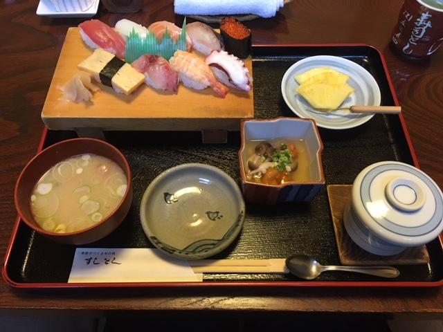 水戸市寿司とし 人気店の寿司ランチを楽しみました!